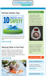 Childproofing Experts enewsletter design thumbnail